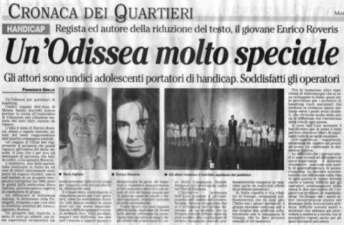 2001 06 - 26 giugno - Monza Sette - Un'Odissea molto speciale