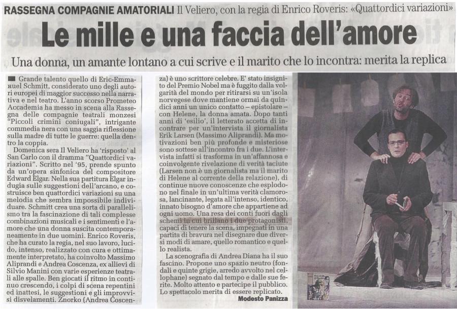 2008 05 - 08 maggio - il Cittadino - Le mille e una faccia dell'amore