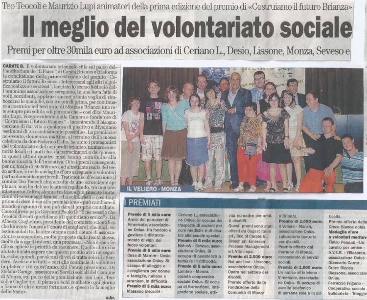 2008 06 - 26 giugno - Il Cittadino - Il meglio del volontariato sociale