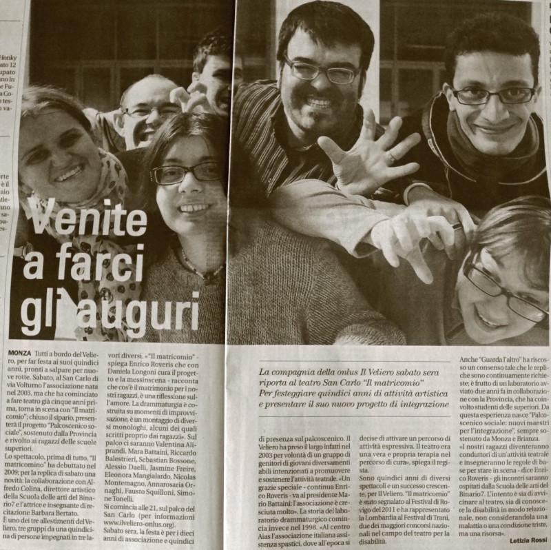 2013 01 - 10 gennaio - il Cittadino - Venite a farci gli auguri